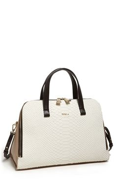 Furla 'Frida - Medium' Embossed Leather Satchel available at #Nordstrom
