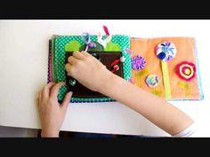Quiet Book - livro em tecido e feltro para entreter bebês - YouTube