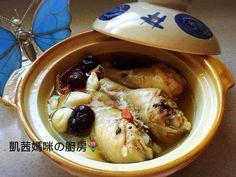 熱呼呼的雞湯,在秋冬季節最適宜。蒜頭可增強免疫系統,與雞腿一起燉煮;最棒的養生良品。