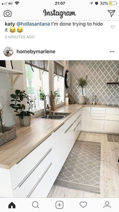43 Cute And Small Kitchen Design Ideas - Are you stuck with a small kitchen but you have some big ideas? Do you have kitchen envy and you wish that you had the counterspace and floor space th. Kitchen Room Design, Kitchen Cabinet Design, Modern Kitchen Design, Home Decor Kitchen, Interior Design Kitchen, New Kitchen, Home Kitchens, Kitchen Dining, Kitchen Cabinets