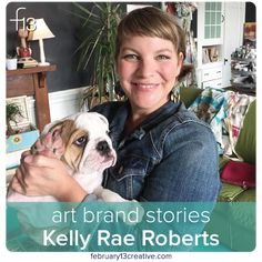 F13 Art Brand Stories: Kelly Rae Roberts / I'm super proud and pleased to share Kelly Rae Roberts' art brand story on our blog today. Her interview contains beautiful reflections about her creative journey, as well as some of the most straightforward advice EVER about how to honor and respect the artists who inspire us. Kelly Rae is just as wise as she is warm and gracious, so pop on over and enjoy!