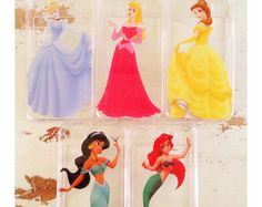Princesse ariel belle aurore jasmine Cendrillon blanche neige iphone 4/4 s 5/5 s 5c 6 cas clair