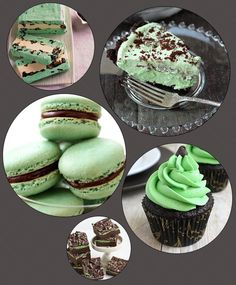 My favorite combination of dessert flavors... this could be dangerous- Mint Chocolate Chip Desserts (recipes included)