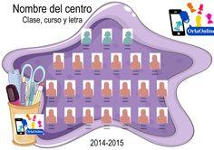 OrlaOnline | Plantilla de orla para Primaria e Infantil Burbuja y Lapicero