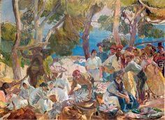 JOAQUIN SOROLLA - cataluña, el pescado 1915