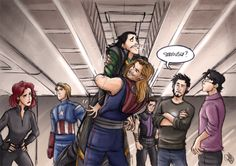 The Avengers - The Brothers' Hug by ~Renny08