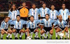 Éstos son los jugardores de selección de fútbol de Argentina.