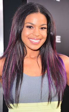 purple straight ombre