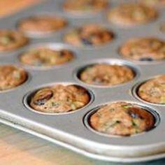 Gluten Free Zucchini Chocolate Chip Mini-Muffins Recipe elanaspantry