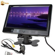 Car Unit Monitor 9 Inch TFT LCD car styling for parking Reversing Camera car monitor for Parking Monitor DVD VCR Headrest HD