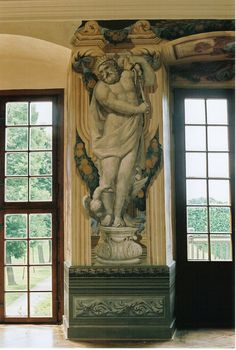 Herrenhausen - painted figure of #Zeus (Jupiter) and his eagle - #Hanover, Germany #baroque