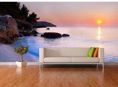 Bay Sunset Repositionable Wall Mural by FotoWalls. Custom Removable Wall Murals & Wall Paper. https://www.etsy.com/listing/204792433/bay-sunset-repositionable-wall-mural-by?ref=shop_home_active_7 #interiordesign #homedecor #wallmural #wallpaper #bay #beach #sunset