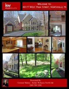 46177 W Main Street Northville Michigan Walk to DOWNTOWN NORTHVILLE Corinne Madias Northville Listing Kw Fine Homes Mighigan