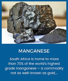 South Africa contains more than of the world's manganese reserves, it only accounts for approximately of the global manganese production. It's still the largest producer in the world. Iron Ore, Dundee, South Africa, Minerals