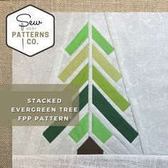 Stacked Evergreen FPP Pattern FPP Pattern Paper Piecing | Etsy