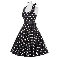 SHARE & Get it FREE | Retro Polka Dot Halter Swing DressFor Fashion Lovers only:80,000+ Items·FREE SHIPPING Join Dresslily: Get YOUR $50 NOW!