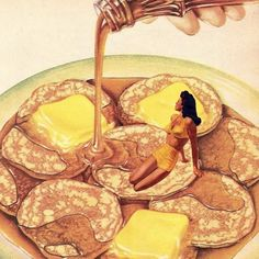 """569 Likes, 17 Comments - digital + handcut collage (@madbutt) on Instagram: """" You're as Yummy as Pancakes  #madbutt #cutandpaste #collageart #collageartwork #c_expo…"""""""