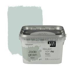 KARWEI Kleuren van Nu muurverf mat jadegroen 2,5 l kopen? Verfraai je huis & tuin met Muurverf kleur van KARWEI