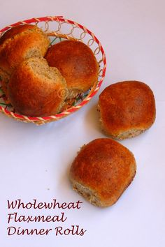 Eggless, Butterless Wholewheat Flaxmeal Dinner Rolls