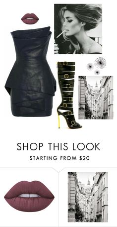 """""""Sexy Little Leather Mini Dress"""" by kotnourka ❤ liked on Polyvore featuring Lime Crime"""