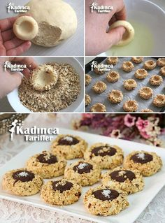 Hazelnut Chocolate Chip Cookies Recipe, How To? - Womanly Recipes - Nut Cookie Recipe The Effective Pictures We Offer You About salad recipes A quality picture can te - Hazelnut Cookies, Chocolate Hazelnut, Chocolate Chip Cookies, Chocolate Recipes, Cookie Recipes, Dessert Recipes, Turkish Recipes, Cookies Et Biscuits, Food Cakes