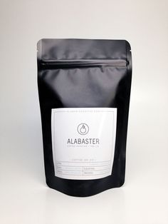 Darkly Silky Coffee Packaging : black coffee bags