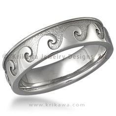 Rolling Wave Eternity Wedding Band This Handsome Features Stylized Waves Evocative Of The