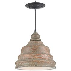 Currey and Company Lulworth Distressed Natural Pendant 9710