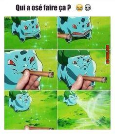 Bulbasaur used Kush dust the other pokemon has become high af and is tweakin Pokemon Memes, Pokemon Go, Pokemon Stuff, Pikachu, Cod Memes, Dankest Memes, Funny Memes, Funny Shit, Baguio