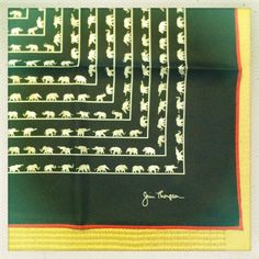 Silk Scarf with Elephants!    A Life With Ari: Fashion Note: Jim Thompson - A Valentine's Scarf Story