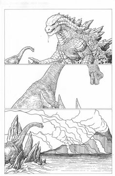 Godzilla Saving Brachiosaurus In Jurassic World Fallen Kingdom Jurassic World Dinosaurs, Jurassic Park World, Godzilla Comics, Godzilla Wallpaper, Jurassic World Fallen Kingdom, Park Art, Dinosaur Art, Prehistoric Creatures, Monster Art