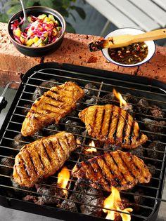 Treacle And Spice Marinated Pork Steaks...