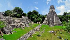Hidden in the jungle ruins of the Mayan city that flourished around the VII-VIII century.