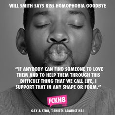 "Will Smith is for gay rights #LGBT #Misty Albrecht, an Artist, homewrecker, electrician, and ""lesbian"" from Santa Clara CA"