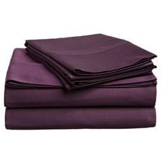 Colleen Egyptian Cotton Sheet Set in Plum
