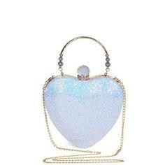 Rhinestones Heart Shape Evening Bag