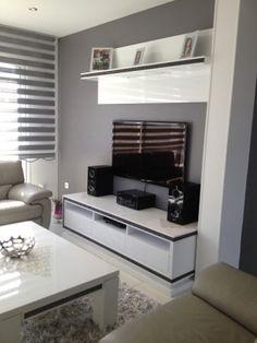 salon blanc gris moderne - Salon Moderne Gris