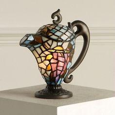 Tiffany-style antique teapot