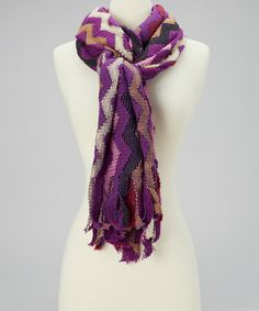 Take a look at this Purple Zigzag Scarf by Highness NYC on #zulily today!