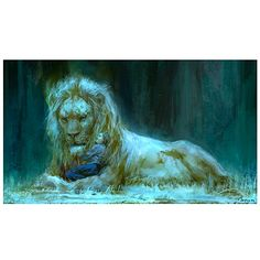Chronicles of Narnia Prince Caspian Aslan and Lucy Print