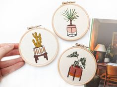 Beginner Embroidery Kit The Mini Series Modern Embroidery Diy Embroidery Kit, Modern Embroidery, Embroidery For Beginners, Contemporary Embroidery, Embroidery Patterns, Pdf Patterns, Embroidery Thread, Craft Kits, Diy Kits