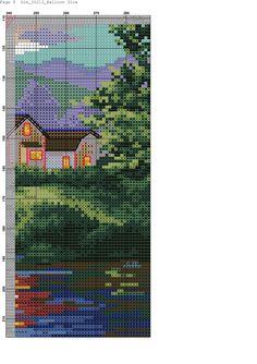 Zz Cross Stitch Art, Cross Stitch Patterns, Balloon Glow, Cross Stitch Landscape, Loom Weaving, Pixel Art, Cover Design, Diy And Crafts, Embroidery
