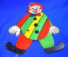 Old Vintage German Wood Carved Folk Art Jumping Jack Clown #AB8