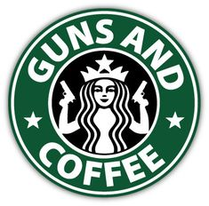 Guns and Coffee sticker decal 4 x 4 by stickersmix on Etsy, $3.00