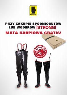 Promocja !!! Przy zakupie spodniobutów lub woderów STRONG mata karpiowa GRATIS!!!  #promocja #gratis #pros #ajgroup #strong #wodery #spodniobuty #waders #chestwaders