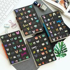 Прохладный моды красочные животных дизайн мини-ноутбук 13*18 см чистые листы 148 P студентов канцтовары подарок