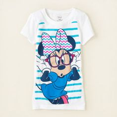 girl - graphic tees - Minnie Mouse chevron graphic tee   Children's Clothing   Kids Clothes   The Children's Place