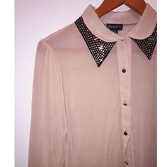 Cream button down see through long sleeve top Cream button down see through long sleeve top.                                                                                                                                                                         Fast shipper  Accept reasonable offers  I do bundle discounts too                                 No trades Tops Button Down Shirts