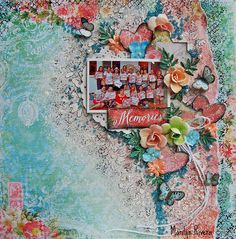 Memories-My Creative Scrapbook - Sept. 2015 LE kit by My Creative Scrapbook Blue Fern Studios, Marion Smith Designs and Prima Marketing.