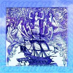 Mermaids & Pirate Ship Shower Curtain